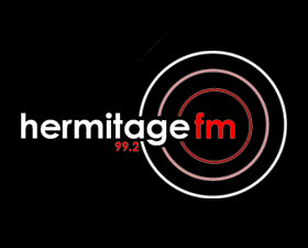Hermitage FM logo, listen to the show on FM and online