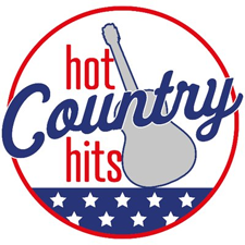 Hot Country Hits logo, listen to the show on FM and online