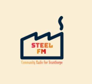 Steel FM logo, a steel factory.