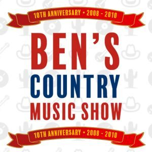Listen again to special shows broadcast to mark the 10th Anniversary of Ben's Country Music Show from 2008 - 2018, as shown by the banner image displayed here.